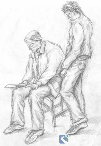 农村手绘图马可笔